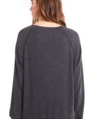 Wildfox I'm ignoring you sommers sweater black back