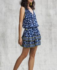 poupette amoro mini dress blue fressia alt