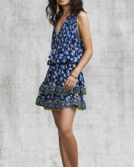 poupette amoro mini dress blue fressia side