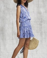 poupette clara mini dress blue fanciful side