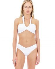 seafolly twist bandeau white hipster