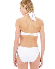 seafolly twist bandeau white hipster back