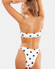 solid and striped cream black dot back
