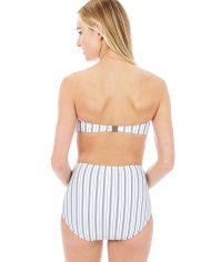 seafolly sea stripe bandeau high waist pant back